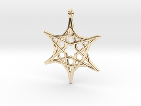 Hex Star Pendant in 14k Gold Plated Brass