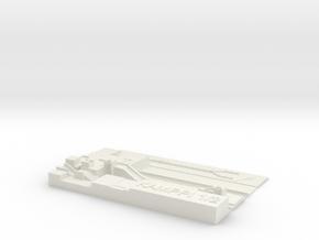 Kamppi Metroasema laituritaso in White Natural Versatile Plastic
