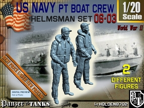 1/20 USN PT Boat Helmsman Set 06-03 in White Natural Versatile Plastic