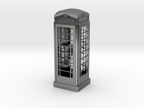 K6 Telephone Box (5cm) in Polished Silver