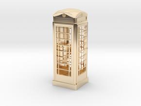 K6 Telephone Box (5cm) in 14k Gold Plated Brass