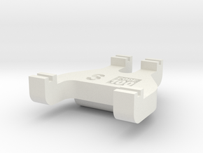 S Scale Track Gauge - Code 100 in White Natural Versatile Plastic