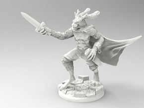 The Bewildering Jackalope in Smooth Fine Detail Plastic