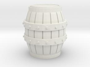 S Scale 3 Ft Barrel in White Natural Versatile Plastic
