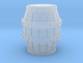 S Scale 3 Ft Barrel in Smooth Fine Detail Plastic