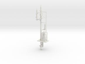 NSWGR 7mm LQ RH Bracket Signal and Parts in White Natural Versatile Plastic