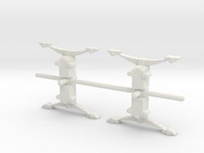 4 Ellis Axle boxes in White Strong & Flexible