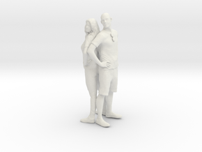Printle C Couple 100 - 1/24 - wob in White Natural Versatile Plastic