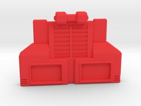 Borstschild voor Combiner War Hotspot of Onslaught in Red Processed Versatile Plastic