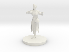 Human Female Monk in White Strong & Flexible