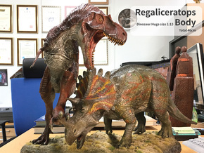 Regaliceratops Body (Total 46cm / 1:13) in White Natural Versatile Plastic