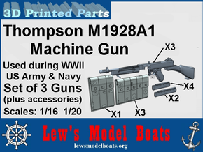 Thompson M1928A machine gun (w/acc) in Smoothest Fine Detail Plastic: 1:20