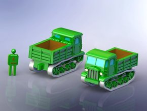 Sovjet STZ-5 Full Tracked Tractor 1/144 in Smooth Fine Detail Plastic