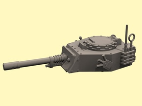 28mm APC turret with autocannon in White Strong & Flexible Polished