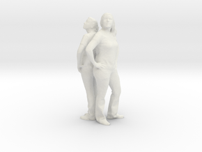 Printle C Couple 004 - 1/24 - wob in White Strong & Flexible