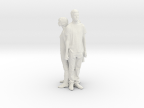 Printle C Couple 011 - 1/24 - wob in White Strong & Flexible