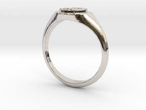NTUA Female Ring in Platinum