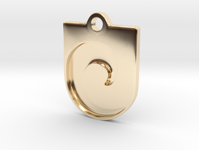 Inverted Waveguard Pendant in 14K Yellow Gold