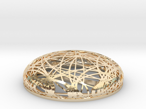 Brooch - Hairpin Node in 14K Yellow Gold