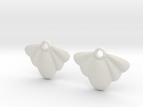 Seashell Earring Set in White Natural Versatile Plastic
