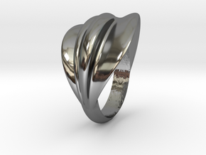 Ring Far in Fine Detail Polished Silver
