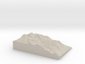 Model of Mount Williamson in Sandstone