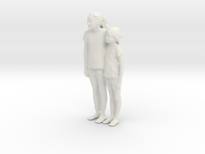 Printle C Couple 017 - 1/24 - wob in White Strong & Flexible
