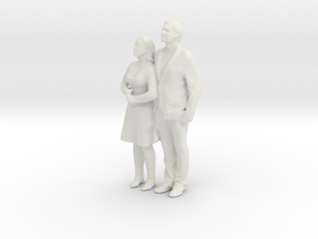 Printle C Couple 019 - 1/24 - wob in White Strong & Flexible