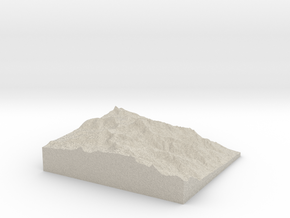 Model of Trojan Peak in Natural Sandstone