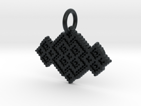 M and W Pendant in Black Hi-Def Acrylate