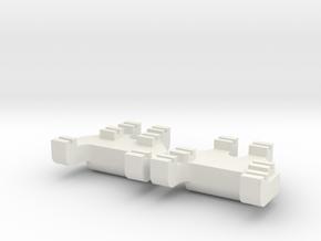 HO-HOn3 Track Gauges - Code 70 in White Natural Versatile Plastic