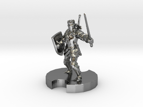 Medieval Knight 2 in Polished Silver