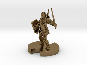 Medieval Knight 2 in Polished Bronze