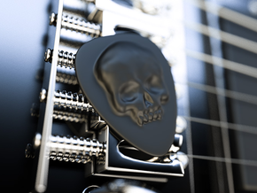 Skull Guitar Pick in Black Acrylic