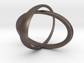 Orbit bracelet in Polished Bronzed Silver Steel