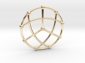 Petersen Graph Pendant, Variation 1 in 14k Gold Plated Brass