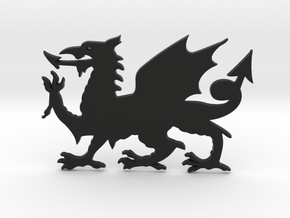 Welsh Dragon for Henry Morgan in Black Natural Versatile Plastic