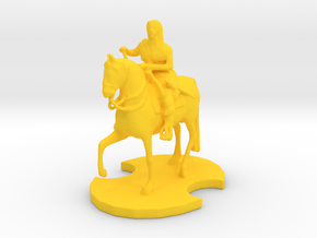 Medieval King (2) in Yellow Processed Versatile Plastic