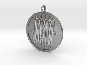 Harmonic Pendant in Natural Silver