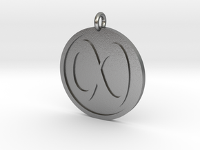 Infinity Pendant in Natural Silver