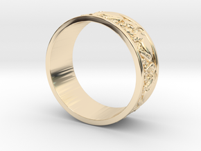 Ring elephant in 14K Yellow Gold