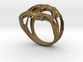 Ring skull in Natural Bronze: 7.75 / 55.875