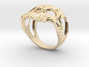 Ring skull in 14K Yellow Gold: 7.75 / 55.875