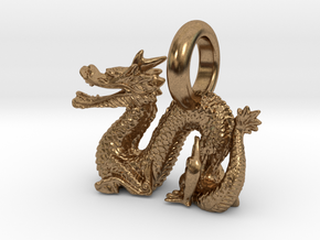 Dragon in Natural Brass