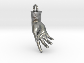 Hand Of Adam in Natural Silver