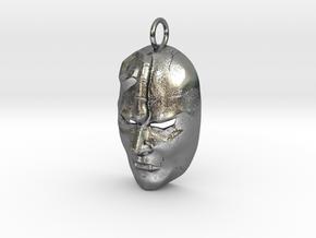 JoJo' s Bizarre Adventure Stone Mask in Polished Silver