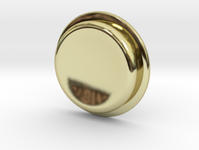 TLF# - Calm Button in 18k Gold
