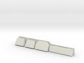 1/144 Burke Radar Shelves in White Natural Versatile Plastic