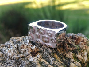 CHEETAH PRINT in Rhodium Plated Brass: 7 / 54