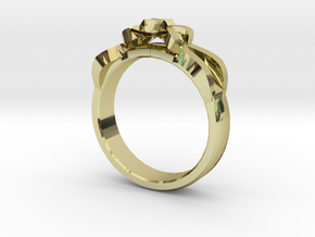 Designer Ring #1 in 18k Gold Plated Brass: 7 / 54